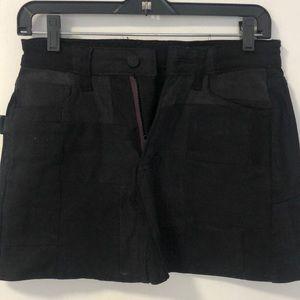 Zadig & Voltaire black denim patchwork skirt